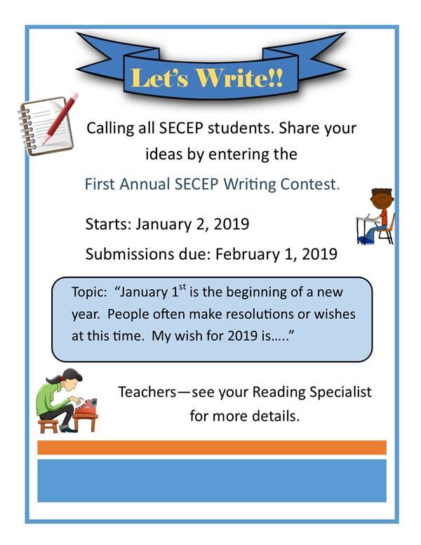 First Annual SECEP Writing Contest