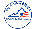 Virginia Values Veterans Official V3 Certified Company seal