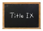 Chalkboard with the words Title IX